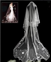 v7 Free shipping Wedding Bridal veils Dress lace Wedding Accessories large 2.8*1.4m bridal veils 2014