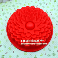 free shipping 1pcs 8.8Inch sunflower Cake Pan Bakeware Silicone Mould Mold