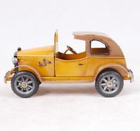 C6B  Metal handicraft iron color convertible classic car wecker model  free shipping