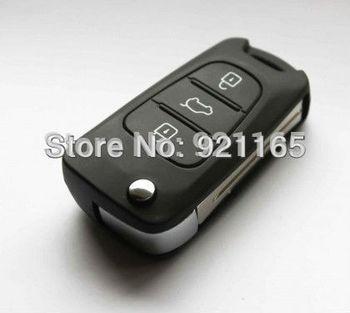 Hyundai I30 and IX35 3 button flip remote key blank