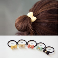 Minimum order amount is $10 (mixed order) bowknot hair color ring