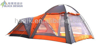 many person double layer one bedroom  camping tent/outdoor tent 2013 /big  hiking tent