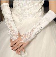 g2  Free shipping Wedding Bridal gloves  Dress Wedding Accessories fingerless long bridal gloves 2014