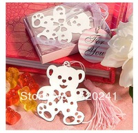 Free Shipping/NEW 12 pcs/pack Creative designs Metal Paper clip / Lovely Bear Bookmarks / Book marks / Wholesale