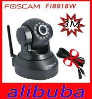 "New Genuine Foscam FI8918W IP Camera Wireless CCTV Security  Webcam Black WPA Wireless WiFi Pan/Tilt 1/4"" Color CMOS"