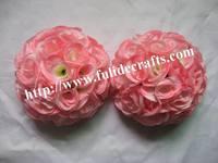 25cm coral pomander wedding flower ball,kissing flower ball,celebration decoration flower