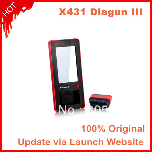 EMS/DHL Launch Hot sale new auto scanner original Launch X431 diagun III global version online update in every country(China (Mainland))
