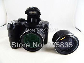 Free Shipping +NEW Digital  Bridge camera+18XOptical Zoom+DSLR camera+16MP+9Languages+Installation of the camera lens+720p