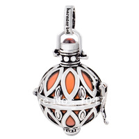 H67-18-C8, newest design 925 sterling silver Mexican bola for pregant woman, 18*14mm harmony ball free shipping