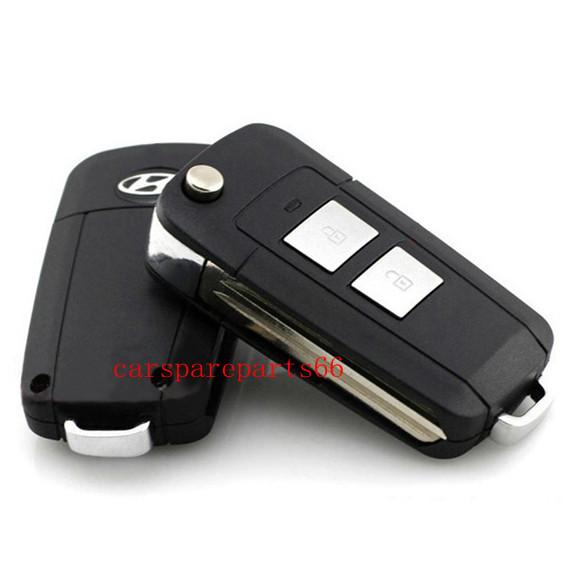 Free shipping! wholesale price 30pcs/lot new 2buttons hyundai elantra flip remote key shell(China (Mainland))