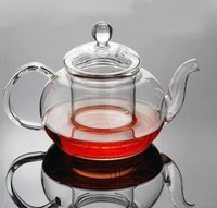 Free shipping 600ml Glass Coffee/Tea Pot with Filter +1pc double wall glass cup+Good Gift,Heat-resistant Teapot,kettle