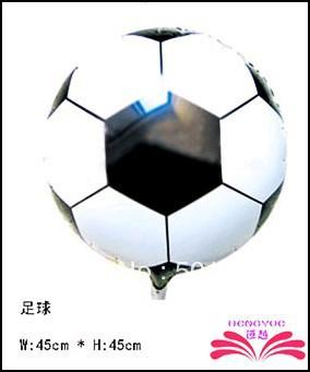free shipping 18inch football foil balloon,18inch round foil balloon, mylar balloon size 45x45cm(China (Mainland))