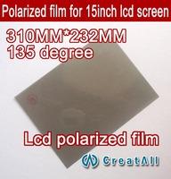 10pcs 15'' lcd polarizer film, lcd polarized film for 15 inch screen,135 degree lcd polaroid,135 angle of view polarizing film