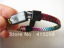 Fashion Punk Rock Unique Zipper ZIp Fastener Style Bangle Bracelet Mini 140 pcs Free Shipping(China (Mainland))