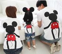 Parent-child outfit summer dress short-sleeved T-shirt / family / children's wear couples dress / parent ladies T-shirt Mitch