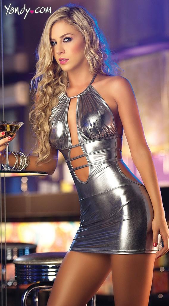 Los dos- color bronceado sexy backless instalado discoteca ds ropa el ...