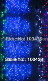 IP65 LED christmas light,LED Waterfall light 1*3Meter,110V or 220VAC,640LED/Set.Whtie,Blue,Green,Red(China (Mainland))