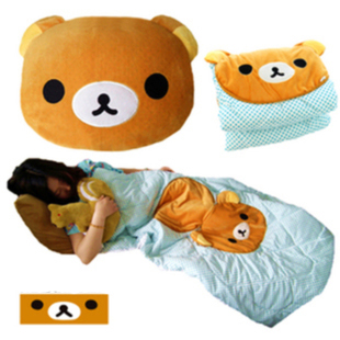 Bear plush toy pillow quilt dual air conditioning blanket air conditioning day gift