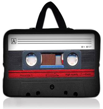 """17"""" 17.3"""" 17.4"""" Cassette Tape Neoprene Laptop Carrying Bag Sleeve Case Cover Holder+Hide Handle For Dell Alienware M17x"""