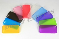 100PCS For iphone 5 Case Soft Cover TPU material Back scrub With Dust plug DHL free shipping