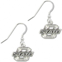 Free shipping 20pairs Oklahoma State Cowboys School Charm Earrings