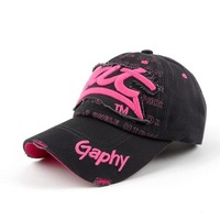 Free Shipping New Arrival 2014 Fashion Hot Sales  Charm Cotton Baseball Cap Viscose For Women Girls OY13032301