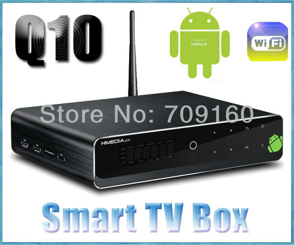 HD1080P built-in WIFI Android 4.0.3 Smart TV Box Cortex A9 3.5 inch HDD Media player Himedia HDMI Goolge TV Box Free shipping(China (Mainland))