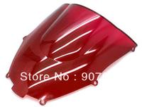 Red Motorcycle Windshield Windscreen Fit For Kawasa Ki 2000-2003 ZX-9R ZX9R