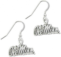 Free shipping 20pairs Mississippi Rebels School Charm Earrings