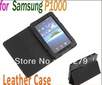 Free Shipping Leather Case Cover Stand Protective Case for Samsung Galaxy Tab P1000