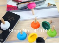 Rubber Toilet Sucker Stand Mobile Phone Holders and Stands Plunger Sucker Stand Holder For iPhone  1500pcs/lot Free dhl shipping