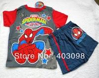 boy summer sports suit kids cartoon clothing set spiderman design