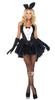 Sexy Bunny Costumes Adult Ladies Halter Mini Dresses Fantasy Party Dress Up Fancy Dress Outfit M/XL
