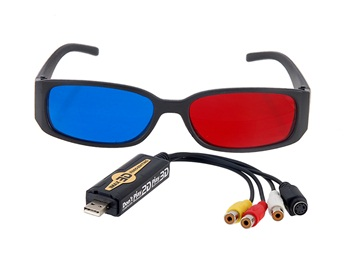 USB 2.0 Photo/2D to 3D Video Editor (Black)(China (Mainland))