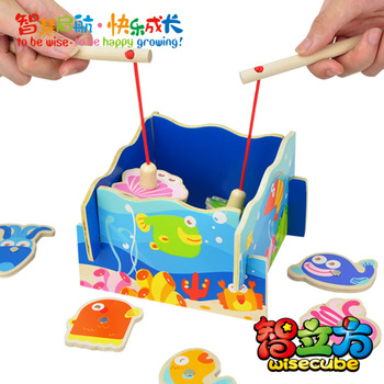 Free shipping Child fishing toy parent-child educational toys baby wool fishing toy