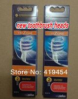 100pcs Free ShippingNew TriZone Brush Heads Electric toothbrush heads EB30-4 brush heads retail packaging (2pcs=1pack)