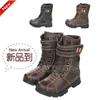 High-leg child winter boots warm shoes snow boots male child leather shoes martin high boots children shoes cotton boots