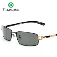 Explosion-proof glass pilkington titanium polarized sun glasses male sunglasses mirror driver pk0429