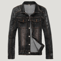 FREE SHIIPING    2013 spring trend men's clothing casual slim solid male denim jacket outerwear