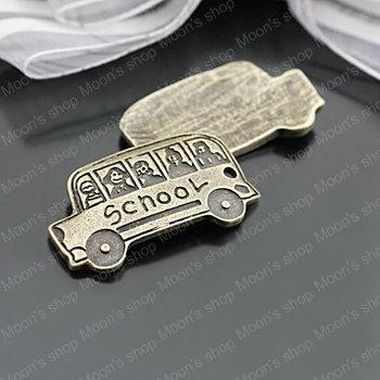 (27127)Jewelry Findings,Accessories,Vintage charm,pendant,Alloy Antique Bronze 30*16MM School bus 20PCS