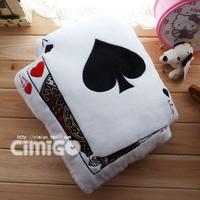 Fashion poker pillow cushion car exhaust pipe ak male