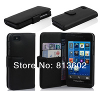 Free  DHL ,For blackberry 10 leather ,New Arrival Folio PU Leather Magnetic Wallet Case Cover for Blackberry Z10 .100pcs/lot