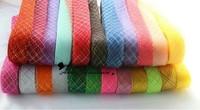 24 colors Flat 3cm wide Crinoline Tubular Ribbon Trim Millinery Hats 100 yards a lot