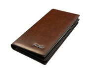1pc Free shipping fashion brown long clutch card holder Money clips&wallet for male,man wallet purse W12