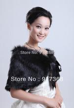wholesale black faux fur bolero