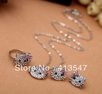 Designer Silver plated KT cat Fashion new vintage cute rhinestone hello kitty Pendant Necklaces costume jewelry Free Shipping