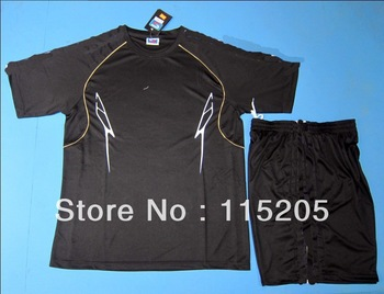 free shipping  best quality T9oo customized blank/plain soccer jersey/shirt & shorts uniform,sports training football equipment