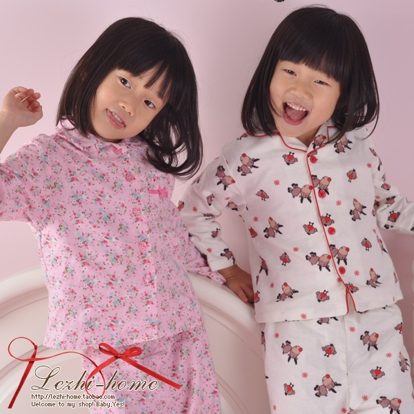 Family fashion autumn 100% cotton flannelet long-sleeve child sleepwear lounge -wmqz1