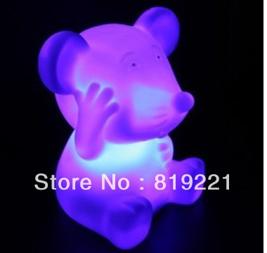 Rat zodiac night light colorful(China (Mainland))