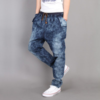 Fashion2013 Mxcrcf 100-072-p75 harem pants strap low-rise jeans men's clothing